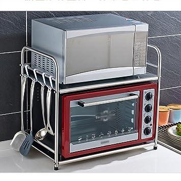 Küchenspeicher Mikrowelle Regal 2 Schichten Edelstahl Küchengeräte ...