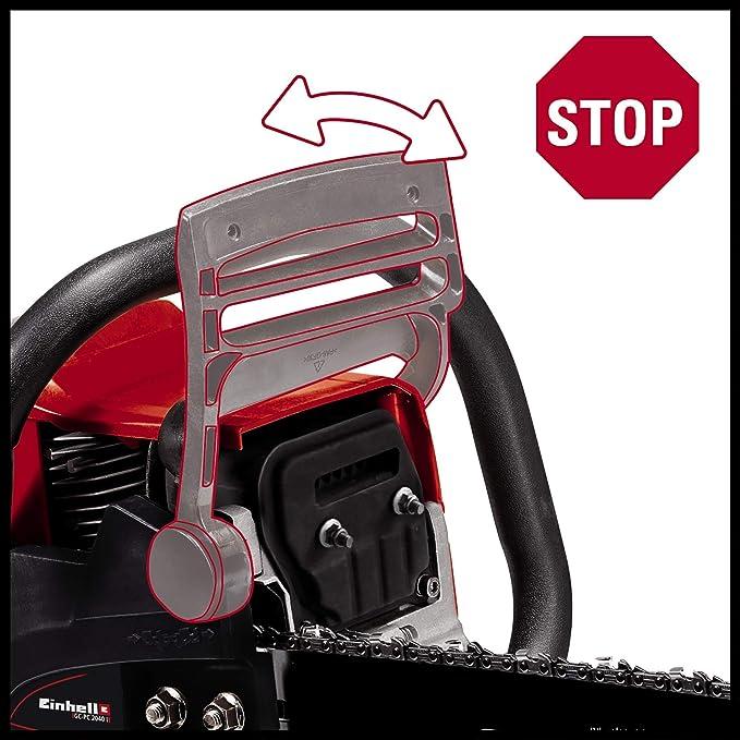 Einhell GC-PC 2040 I - Motosierra de gasolina (2000 W, longitud de corte: 39cm, velocidad de corte: 21m/s, 11500rpm, espada y cadena de calidad ...