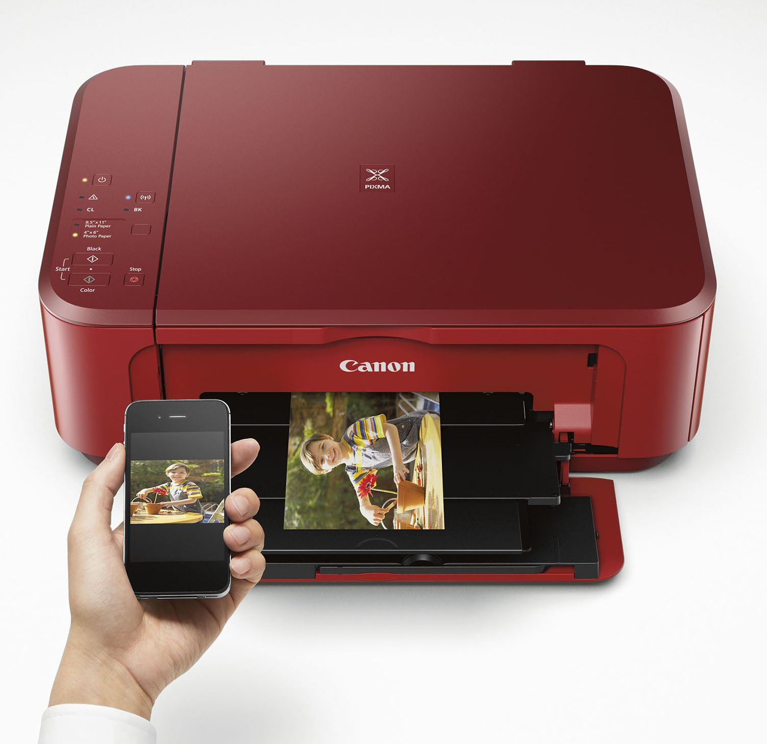 Canon PIXMA MG3620 Wireless All-In-One Color Inkjet Printer with Mobile and Tablet Printing, Red by Canon (Image #3)