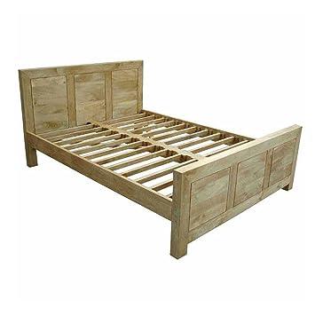 Homescapes - Dakota - Super King Size Bed Frame - Oak Finish - 100 ...