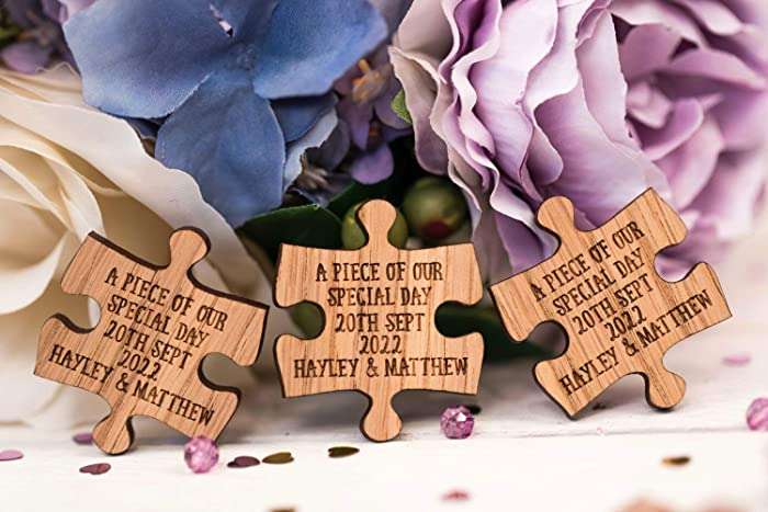Mr Mrs Puzzle Table Decoration Wedding Favours Table Confetti