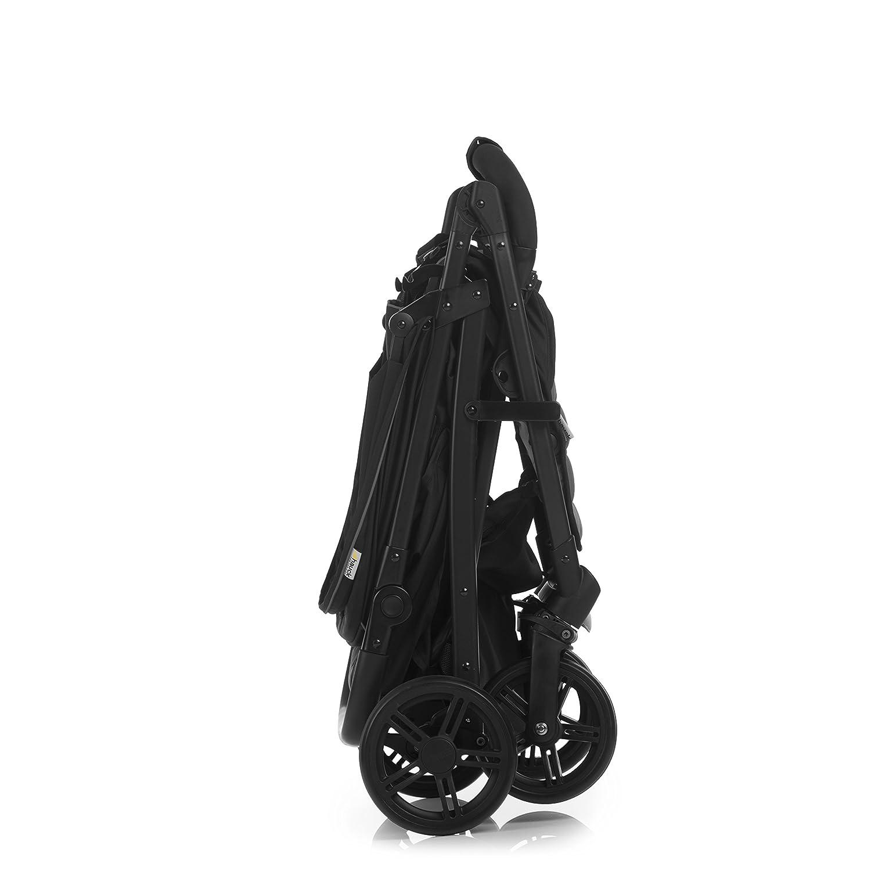 manillar ajustable en altura plegado f/ácil con una mano Sillita compacta y deportiva negro Hauck Rapid 4 compatible con capazo blando Hauck respaldo reclinable de 0 meses a 25 kg