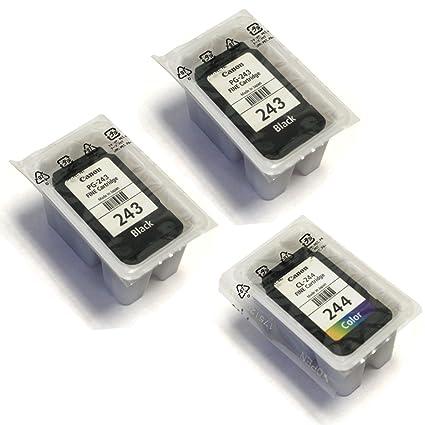 Canon PG 243 Black X2 CL 244 Color For PIXMA Printers Non