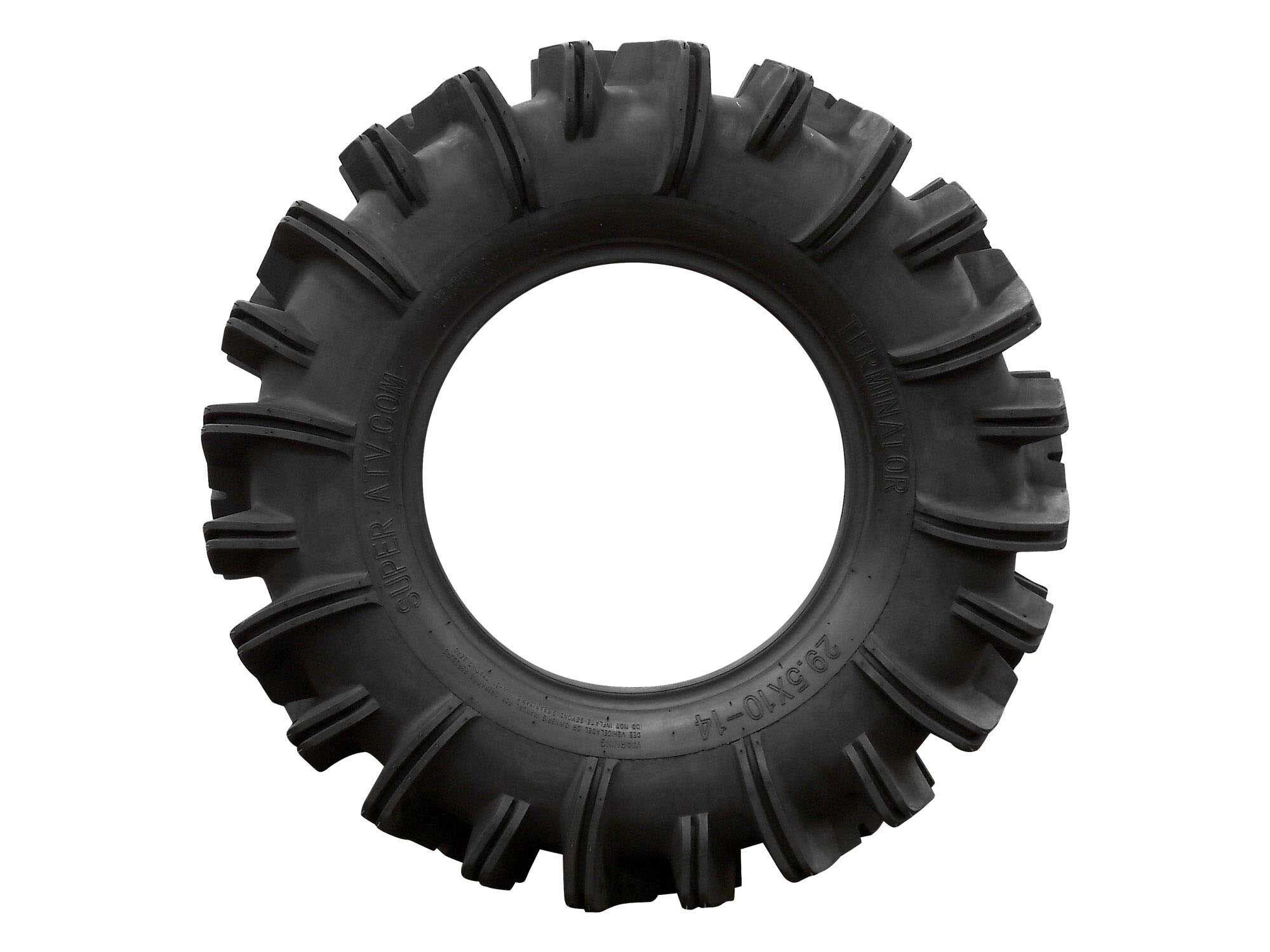 SuperATV Terminator Mud Tire - RZR, X3, General, Maverick, Ranger, Rock & All Terrain UTV - (29.5x10-14)