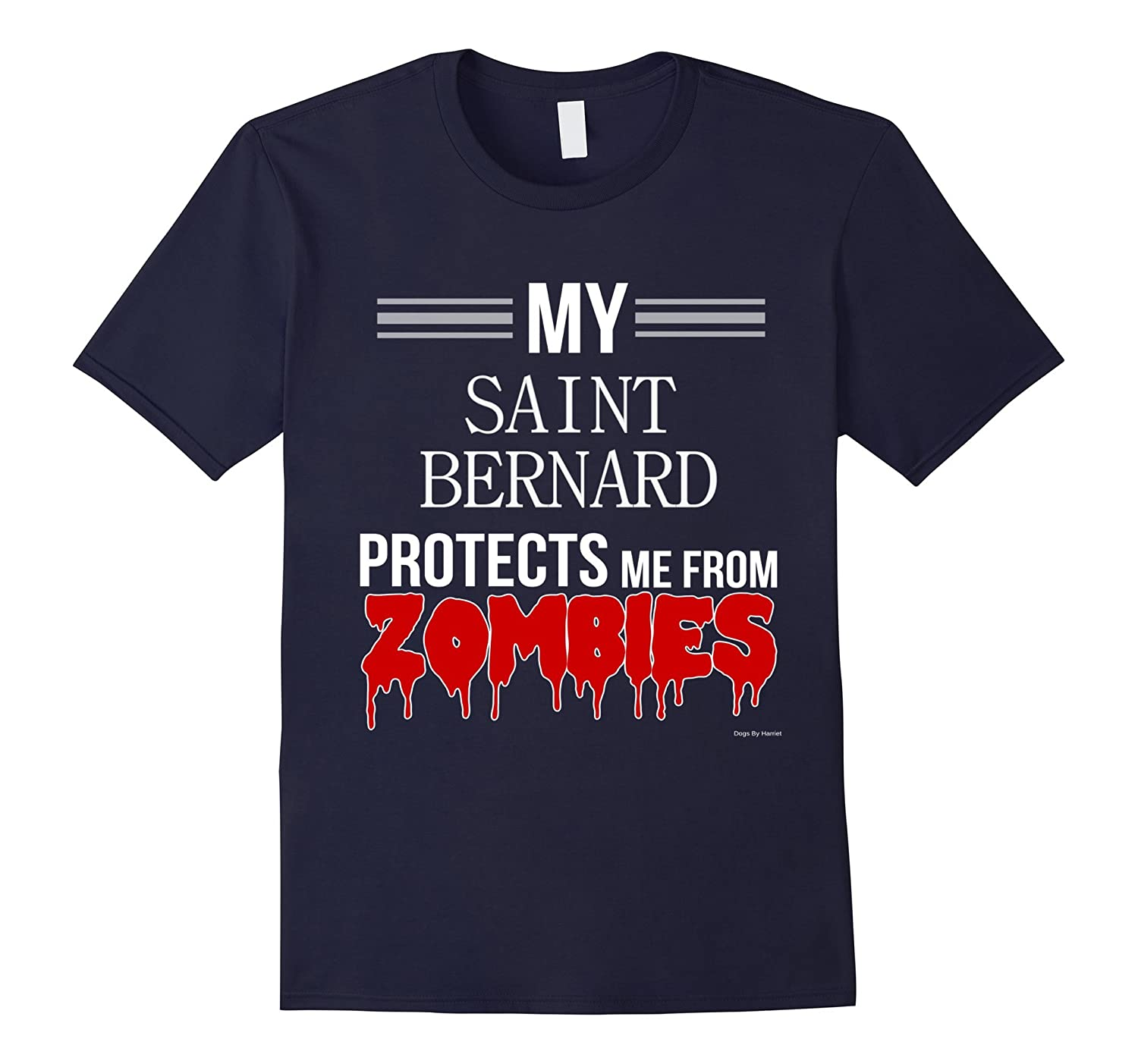 Funny Zombie Saint Bernard - Dog Shirt-Art