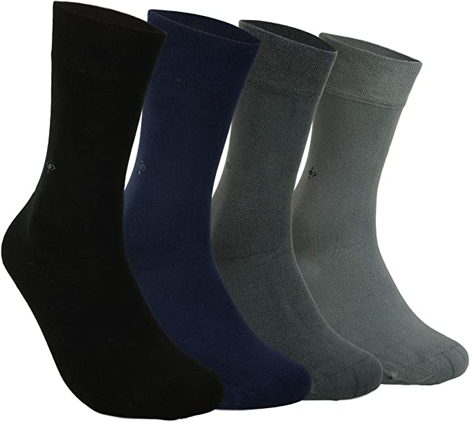 Bamboo Men's 4 Pair Socks - Soft Touch, Naturally Scented ...