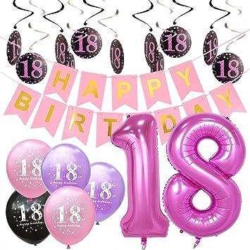Pink and Black Girls Decoraciones para Fiestas de cumpleaños ...