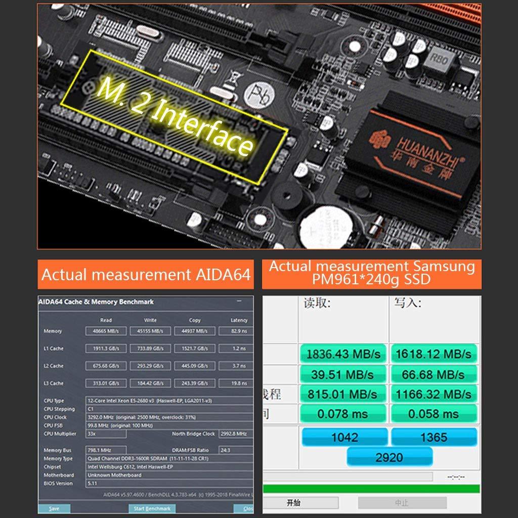 256 MB M.2 NVME SATA3 USB3.0 E-ATX MYA X79-8D Placa Base Doble procesador LGA 2011 E5 2689 2670 V2 DDR3 1333//1600//1866 MHz