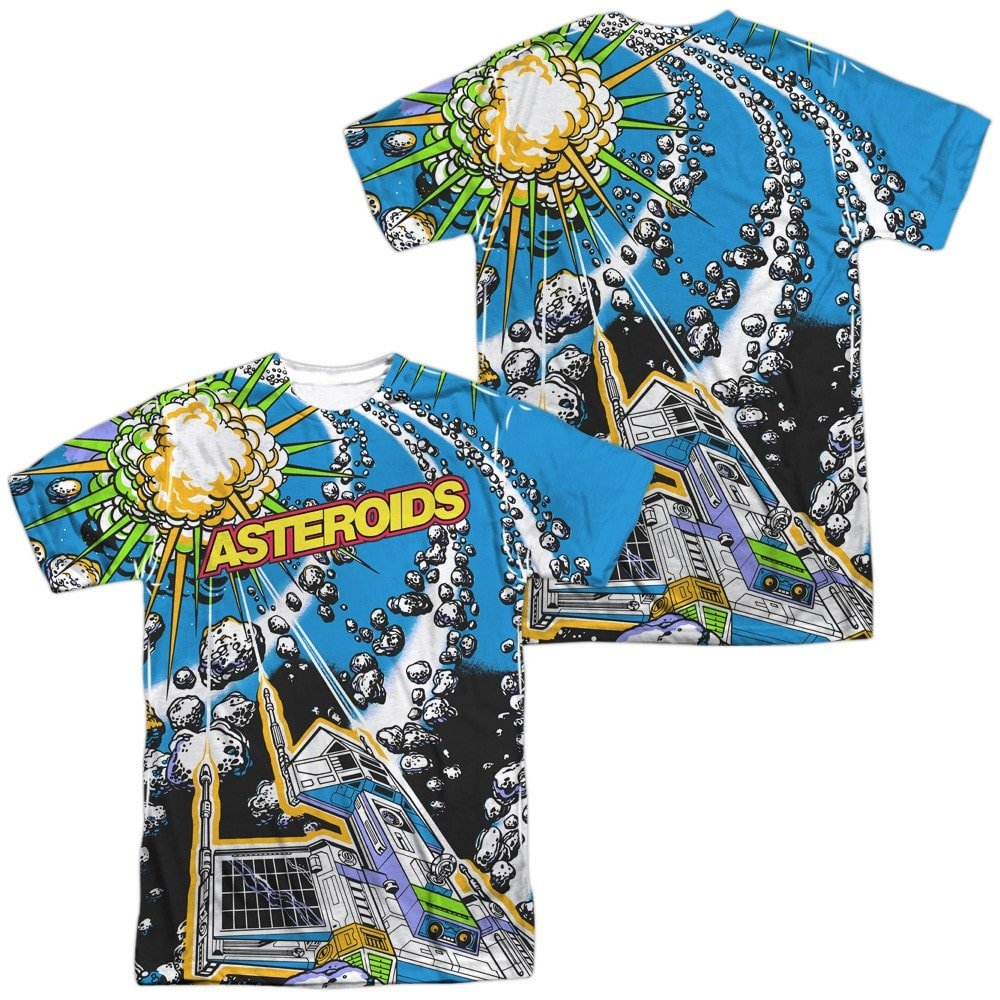 Atari Asteroids All Over Adult All Over Print 100/% Poly T-Shirt