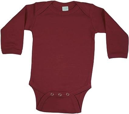 0637da6a6442 Amazon.com  Baby Milano Maroon Long Sleeve Onesie  Infant And ...