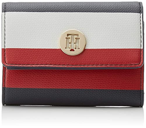 Tommy Hilfiger - Effortless Saffiano Med Wallet, Carteras Mujer, Azul (Corporate), 3x9x12 cm (B x HT)