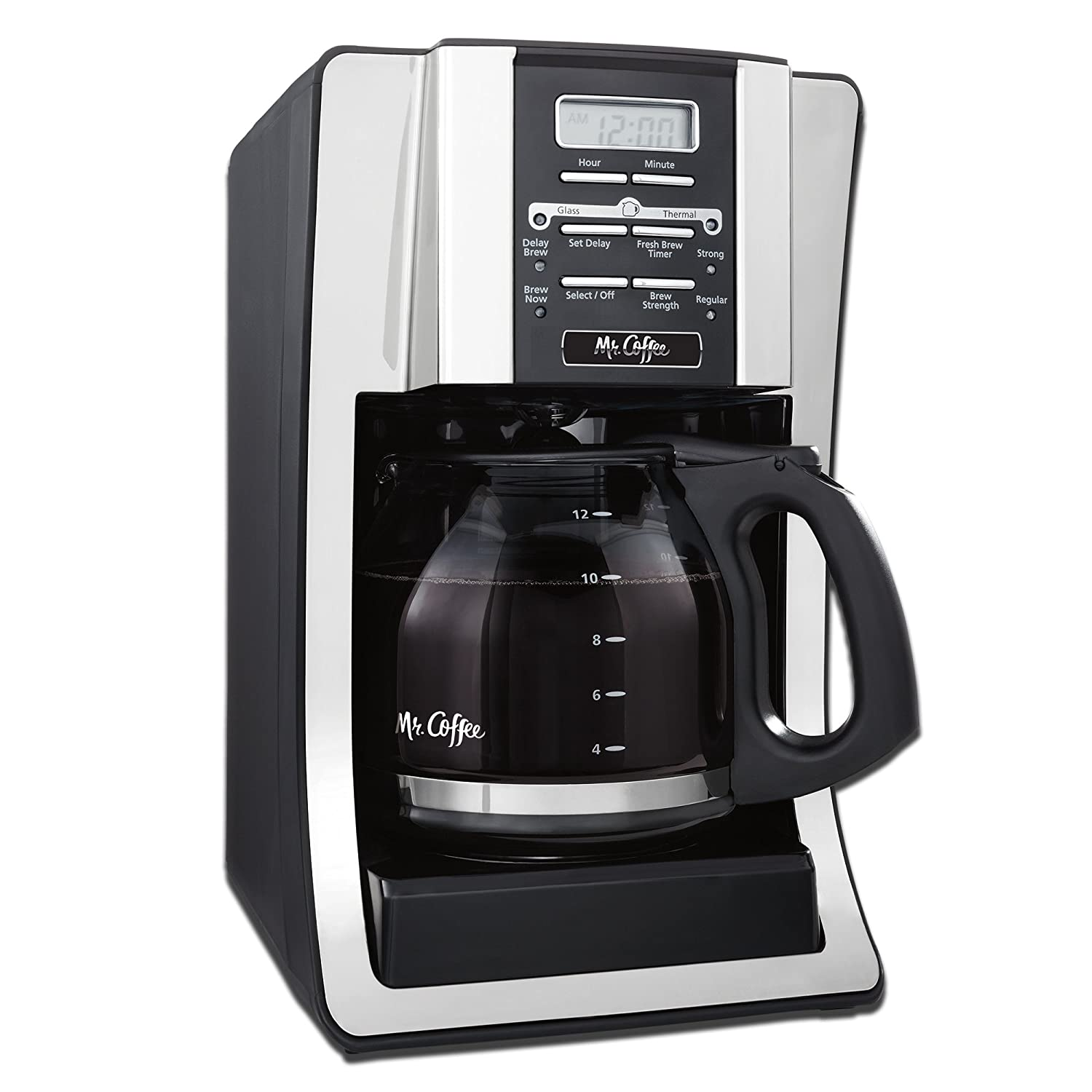 Mr. Coffee BVMC-SJX33GT 12-Cup Programmable Coffeemaker, Chrome BVMC-SJX33GT-AM