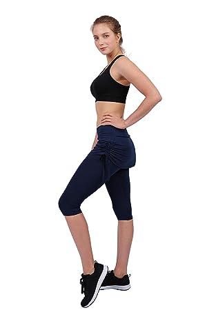 HonourSport Faldas Deportivas para Mujer Pantalones Cortos con Bolsillos Cordones: Amazon.es: Deportes y aire libre