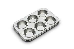 Fox Run 4934 Micro Muffin Pan, Tinplated Steel, 6 Cup