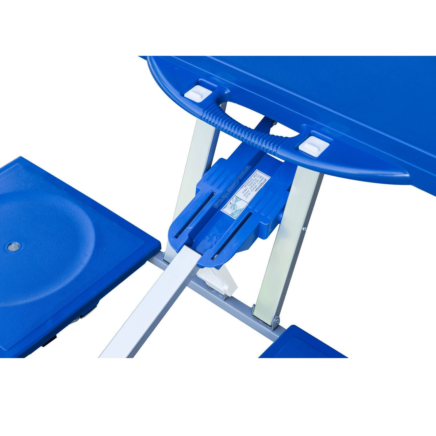 Ar Portable Folding Plastic Camping Picnic Table 4 Seats Outdoor Garden W/Case Blue by Ar (Image #8)