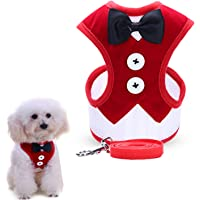 uFashion3C Dog Harness and Leash Set w/ Vest for Puppies and Smaller Dogs