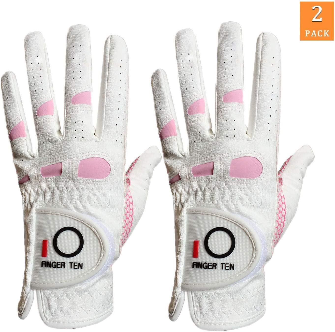 FINGER TEN Guantes de Golf Suaves para Mujer, Talla S, M, XL ...