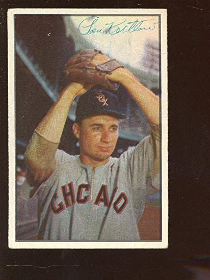 1953 Bowman Color Baseball Card 50 Lou Kretlow Autographed Hologram