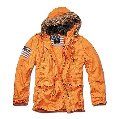 Brandit Jacke Vintage Explorer Stars and Stripes orange