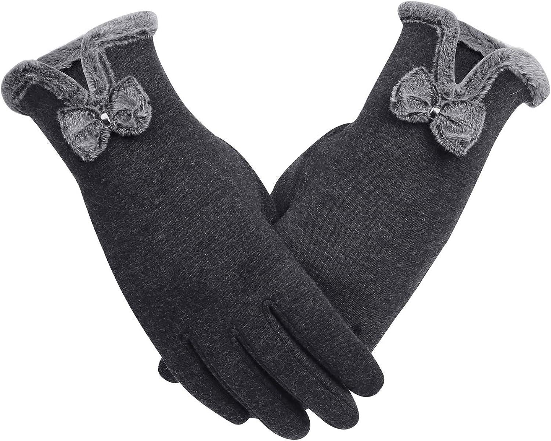 Aibrou Guantes de cuero Invierno Unisex,Cuero Pantalla T/áctil Caliente Guantes de Forro de Cachemir Comodo y C/álidos para Hombre y Mujer