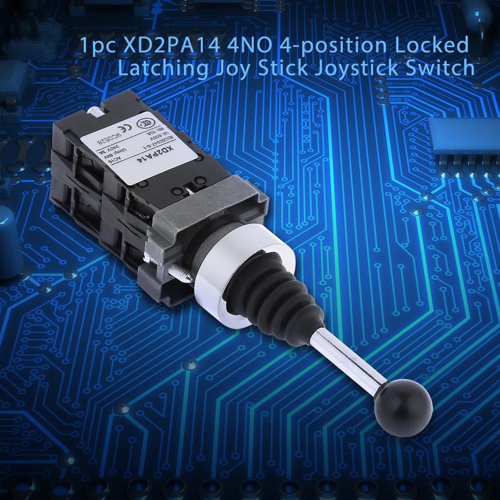 interruptor de joystick bloqueado 1pc XD2PA14 4NO Interruptor de joystick de enganche bloqueado de 4 posiciones Interruptor de joystick