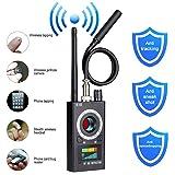 Anti Spy Detector, RF Detector & Camera Finder, Bug Detector, Upgraded RF Signal Detector, KORKUAN GSM Tracking Device for Wireless Audio Bug Hidden Camera Detector (Color: BLACK, Tamaño: 6.6 * 4 * 2.2 IN)