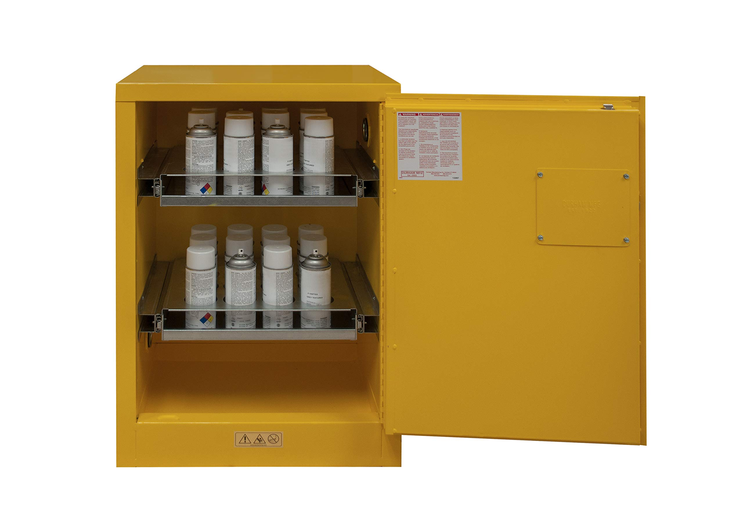 Durham 1012MA-50 Flammable Storage, 24 cans, Manual by Durham