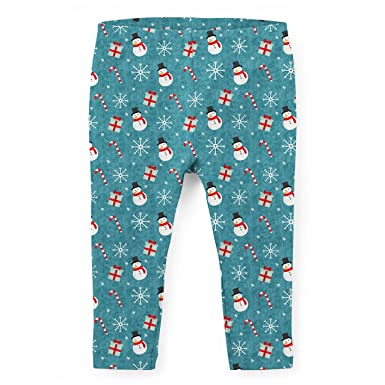 7762ede6b16123 Amazon.com: Snowmen and Candy Canes Kids Leggings: Clothing