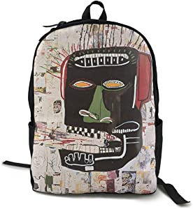 Shanion Unisex Classic Fashion Jean Michel Basquiat Casual Backpack Travel Backpack Laptop Backpack