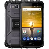 Ulefone Armor 2 5.0 Inch Android 7.0 Unlocked Smartphone - Waterproof Shockproof Dustproof MT6753 64Bit Octa core 1.3GHz 6GB RAM + 64GB ROM 16MP / 13MP Camera 4G Dual SIM Mobile Phone Black