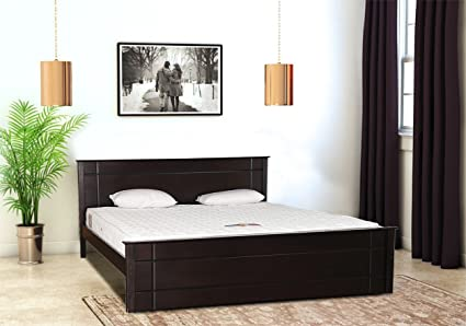 Home Town Zina Grand Queen Size Bed Cappuccino Amazon In Home