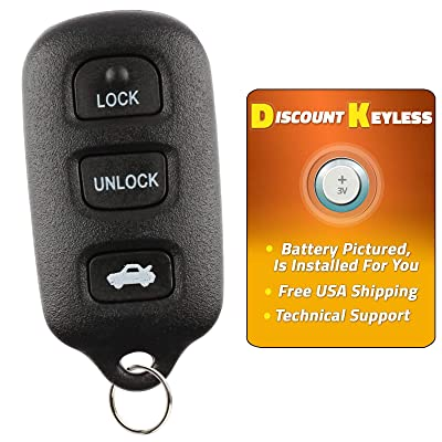 Discount Keyless Replacement Key Fob Car Remote For Toyota Camry Corolla Sienna Solara GQ43VT14T: Automotive