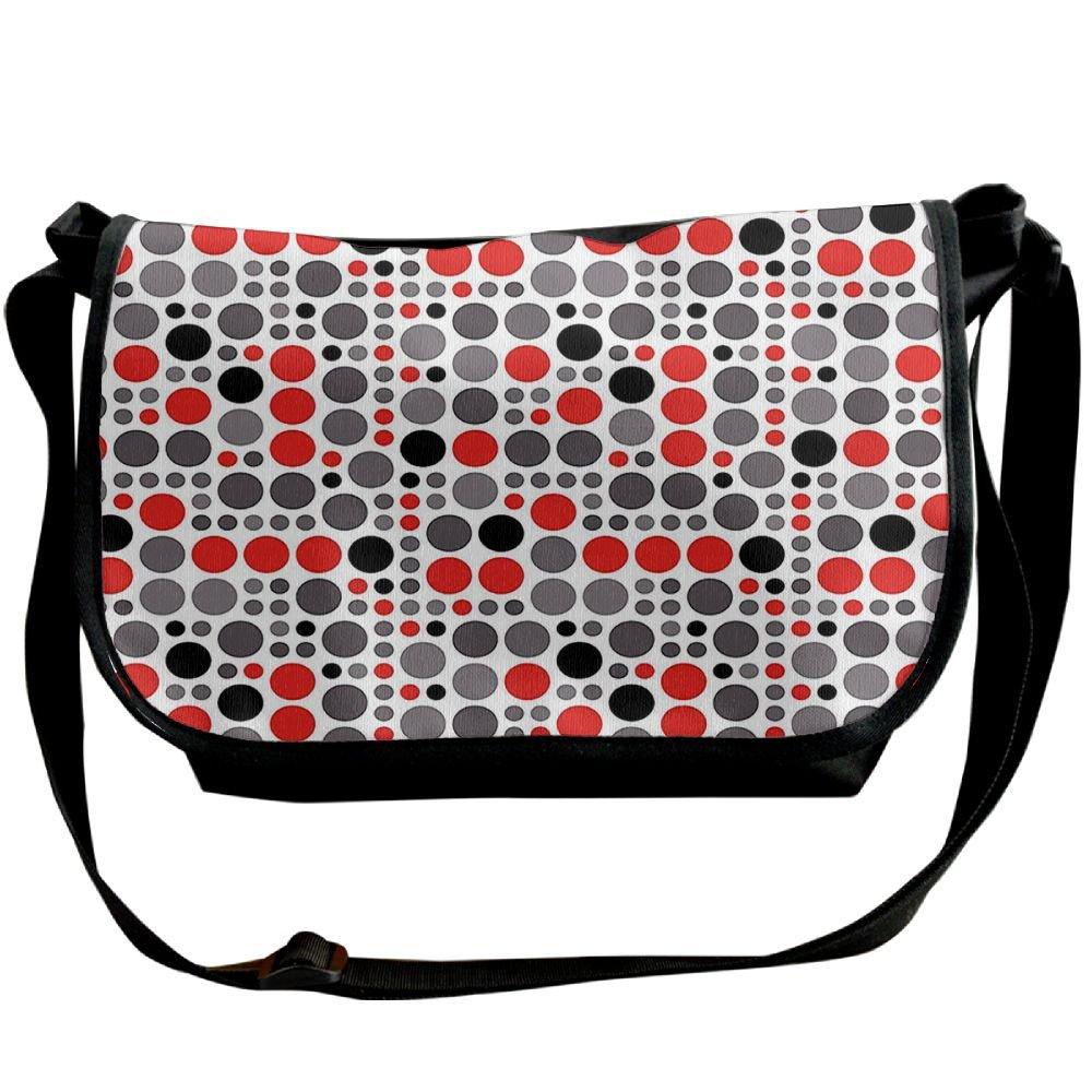 30%OFF Kmeiqufan Big Colorful Polka Dots Circular Geometric Rounds Retro Background Unisex Wide Diagonal Shoulder Bag Adjustable Single Shoulder Backpack