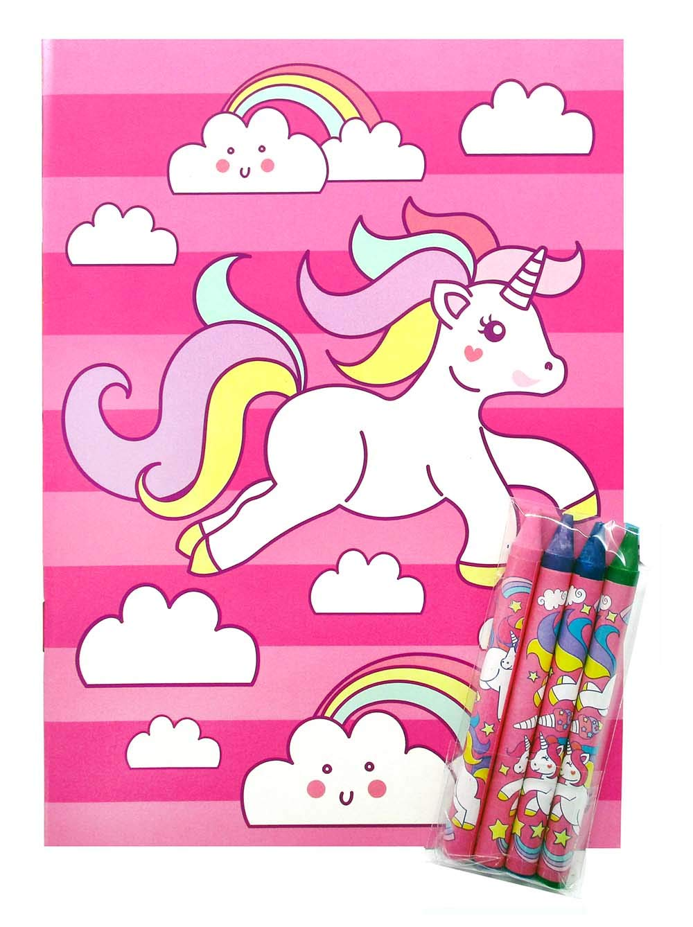 Unicorn Coloring Books with Crayons Party Favors, Set of 12 11