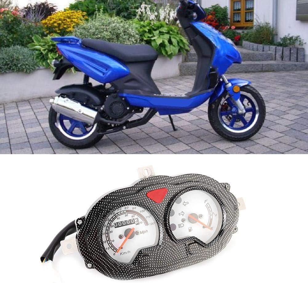 Instrumento de tablero de pl/ástico con veloc/ímetro de scooter de motocicleta de estilo vintage universal Instrumento de motocicleta
