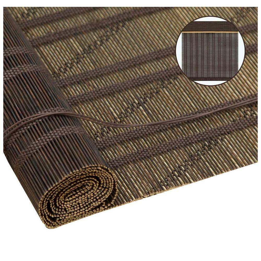 ZEMIN ウッドブラインド 竹 ローラーブラインド ブティック カーテン カスタマイズ可能 ハンドリフティング、 2色、 オプションの30 (色 : Brown, サイズ さいず : 110x220cm) 110x220cm Brown B07MSGT7SX