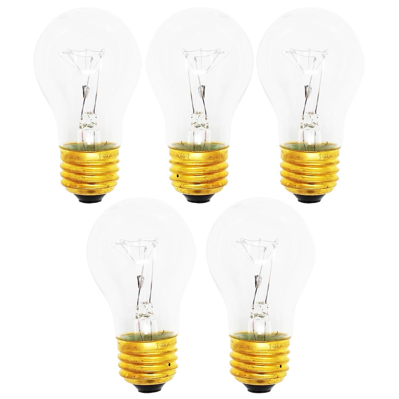 5-Pack Replacement Light Bulb for KitchenAid KTRP19KGWH01 - Compatible KitchenAid 8009 Light Bulb