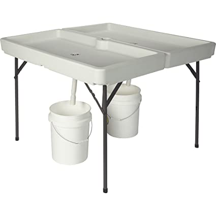 amazon com kotulas 48in x 48in foldable ice party table garden
