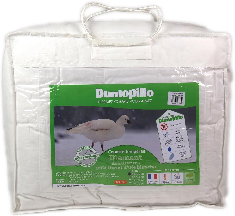 Dunlopillo Diamant Couette Blanc 220 x 240 cm