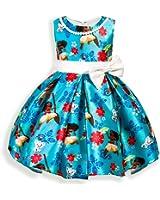 AOVCLKID Moana Girls Cotton Printed Dress Princess Cartoon Party Dress