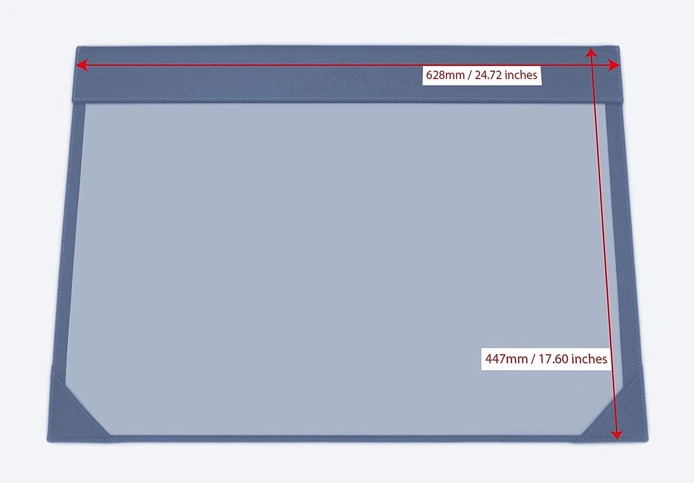 gris clair fourni avec 12 feuilles de papier 120 g//m/² Support de bureau A2 en simili cuir