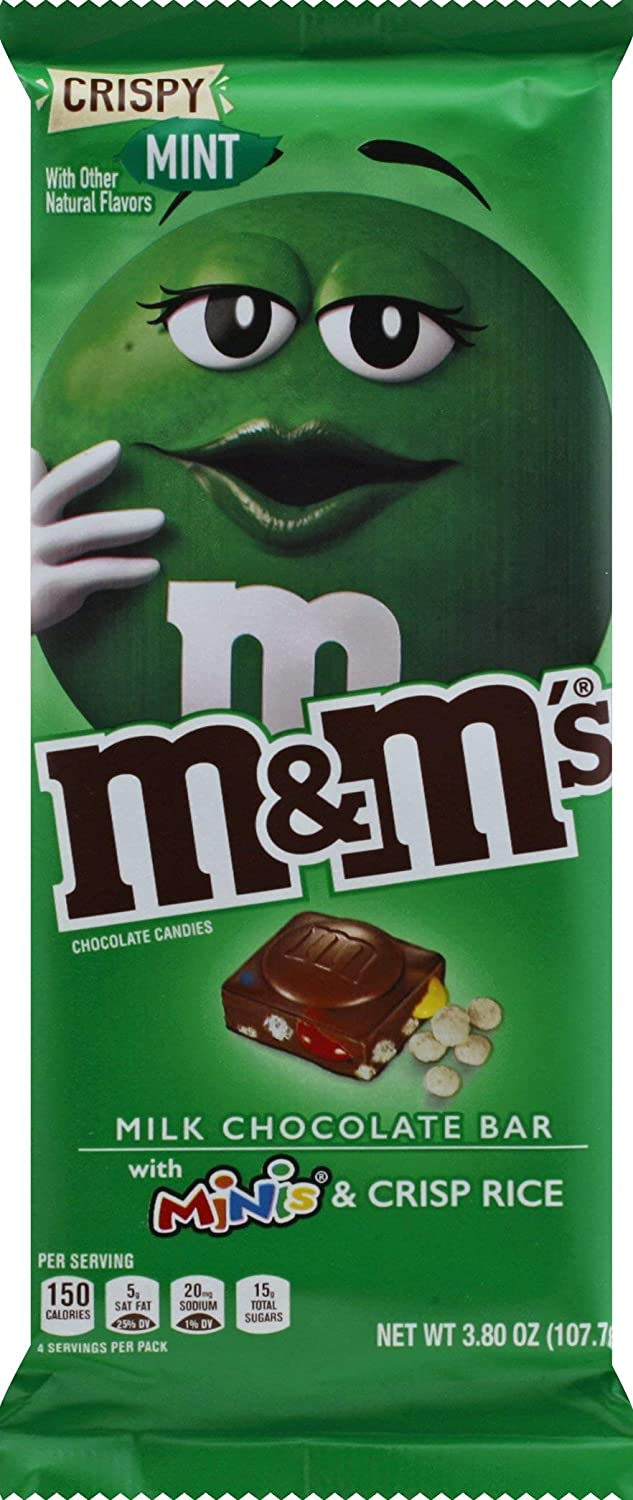 Amazon Com M M S M M S Crispy Mint Minis Milk Chocolate Candy Bar 3 8 Ounce Bar 3 8 Oz Grocery Gourmet Food