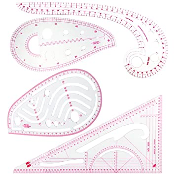 ccmart 4, Streifendesign French Curve Lineal Nähen, für Kunststoff ...
