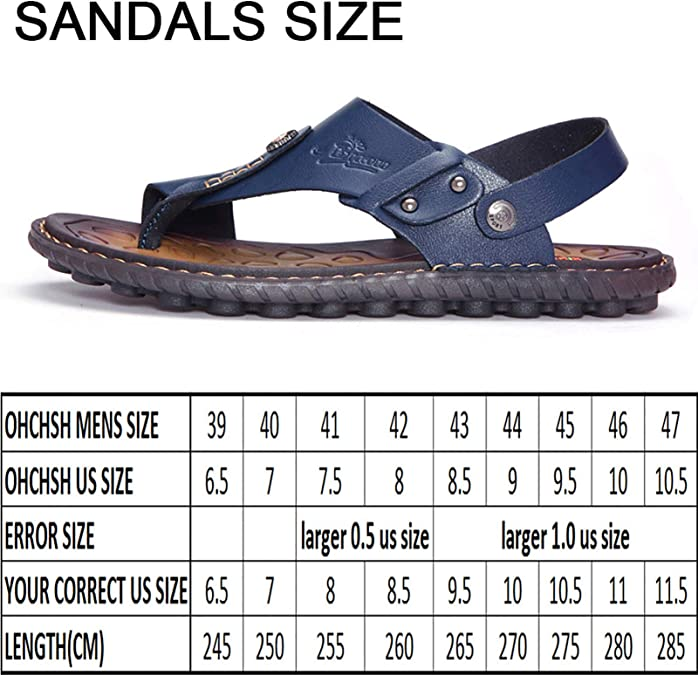 Fjhbljknkk Breathable Mens Sandals Mens Fashion Slippers Slip Style OX Leather Closed Toe Cap Solid Color Light and Practical Soft