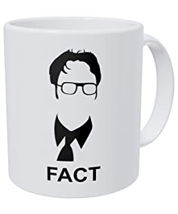 Wampumtuk Jim Halpert The Office Fact - 11 Ounces Funny Coffee Mug
