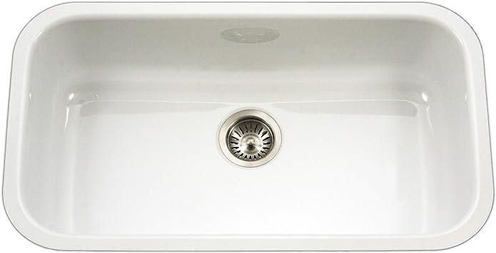 Houzer PCG 3600 WH Porcela Series Porcelain Enamel Steel
