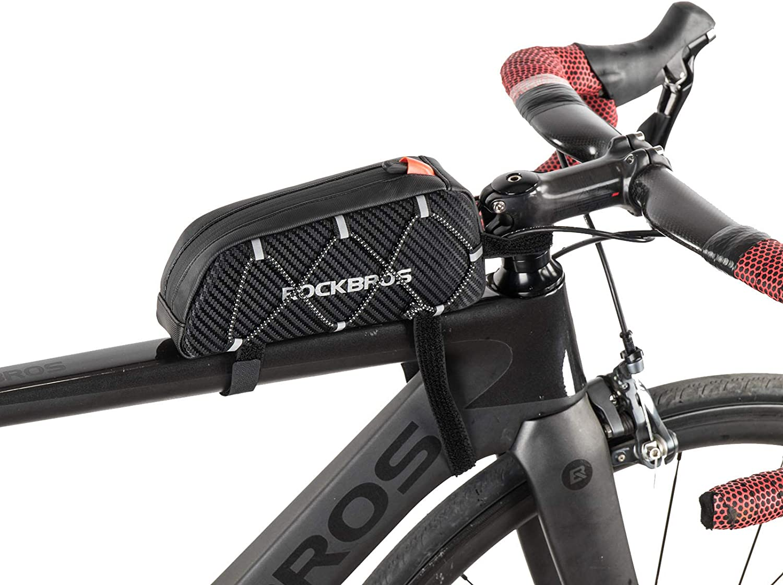ROCKBROS Waterproof Large Capacity Bike Bag Cycling Top Tube Frame Bag Black