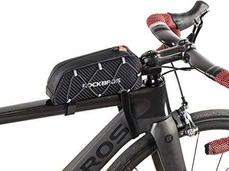 ROCKBROS Bolsa Cuadro de Bicicleta Tubo Superior 1L para Teléfono Móvil iPhone X XS MAX XR 7 8 Plus Ciclismo Triatlón