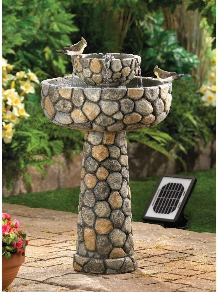 Wishing Well Solar Bird Bath