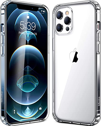 Crystal Clear Case Compatible for iPhone 12 pro Ultra Thin Case Compatible for iPhone 12 Clear Case with TPU Bumper Slim Fit Transparent Back Protective Case